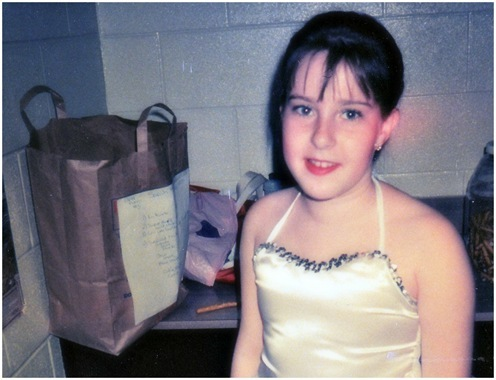 K in ballet costume