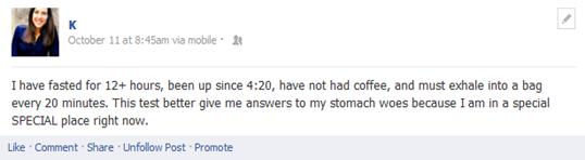 K facebook status