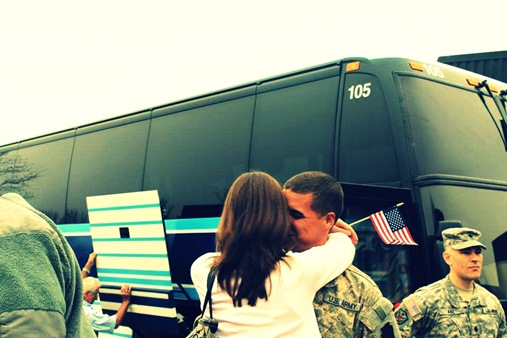 Z returning home from deployment
