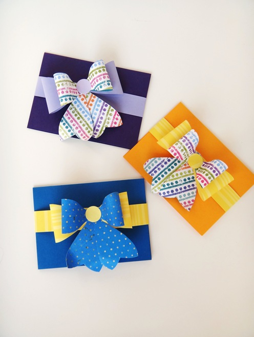 DIY Bow Thank You Cards
