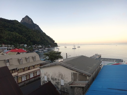View from The Downtown Hotel Soufriere St. Lucia
