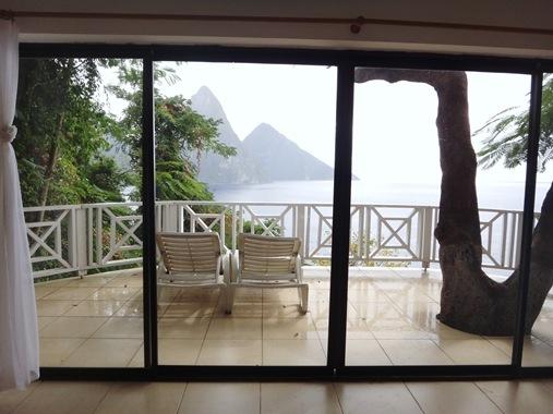 Le Gallerie Villa Soufriere St. Lucia- Bedroom View
