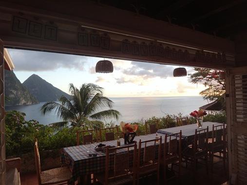 Le Gallerie Villa Soufriere St. Lucia- porch