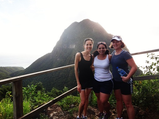 K Jenna Denise in front of Piton
