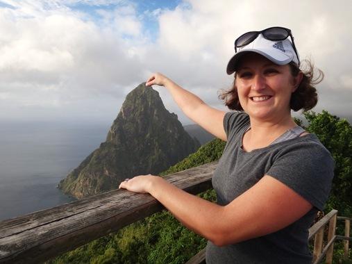 12-9 Denise pinching Piton on Tet Paul Nature Trail