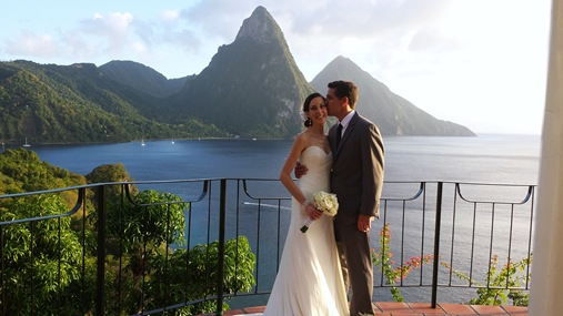 K and Z wedding St. Lucia
