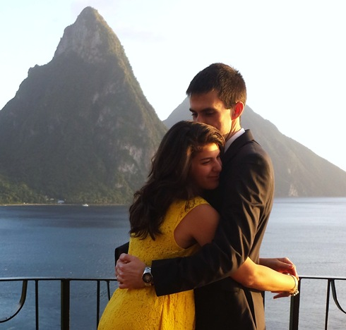 Kevin and Victoria in St. Lucia