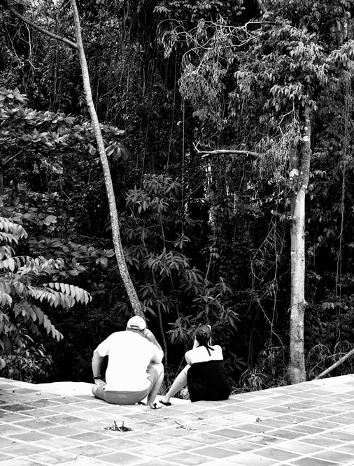 Father of the Bride Gift- K and Dad sloth watching in Costa Rica