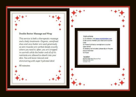 Jenna's Gift Living Social Gift Voucher- back