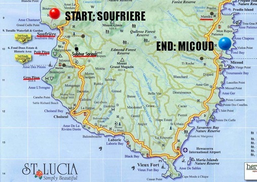 Drive from Soufriere to Micoud St. Lucia