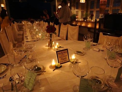 Le Gallerie Villa Soufriere St. Lucia- Wedding reception set up