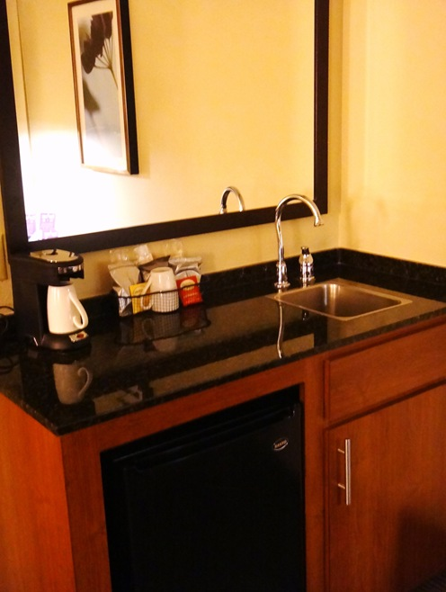 The Hyatt Place Owings Mills Fridge Coffee Pot Sink