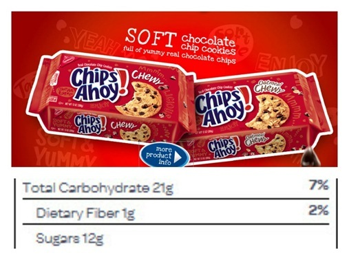 Chewy Chips Ahoy Sugar Content