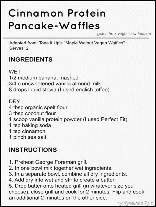 Cinnamon Protein Pancake-Waffle Recipe