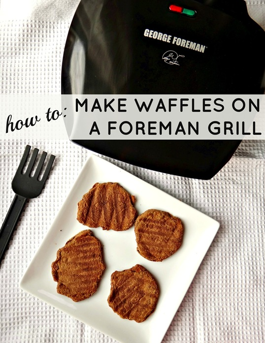 How to make waffles on the george foreman grill