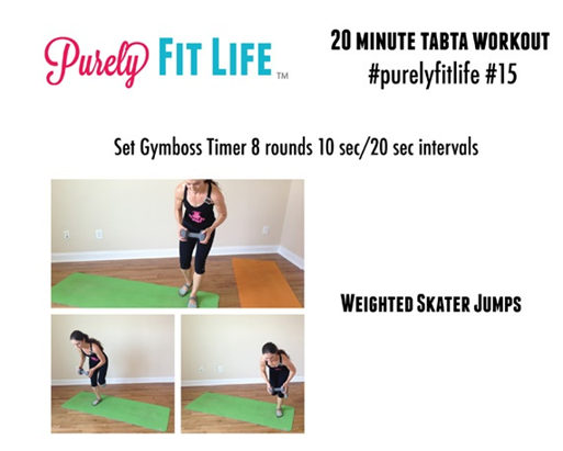 20m tabata from Purely Fit Life