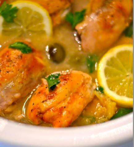 Slow Cooker Lemon Chicken SkinnyMs
