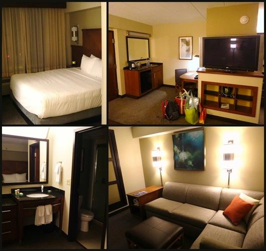 The Hyatt Place Owings Mills Room Set Up