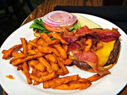 Z's Burger with sweet potato fries