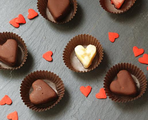 Dark Chocolate Banana Hearts