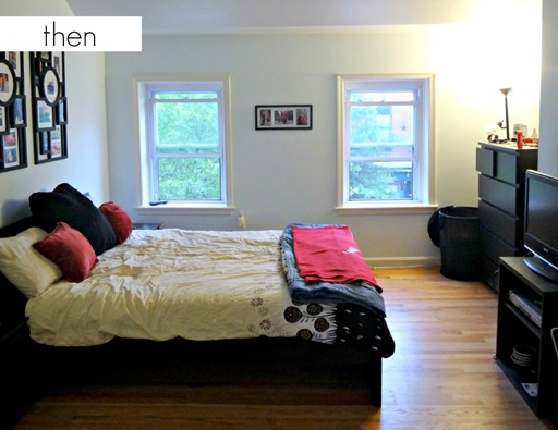 K and  Z Baltimore Row Home bedroom before