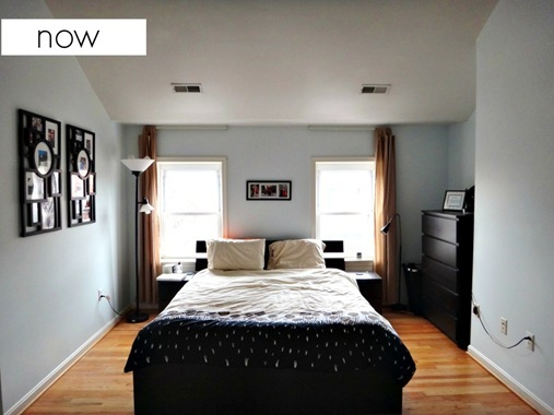 K and Z Baltimore Row Home Master Bedroom