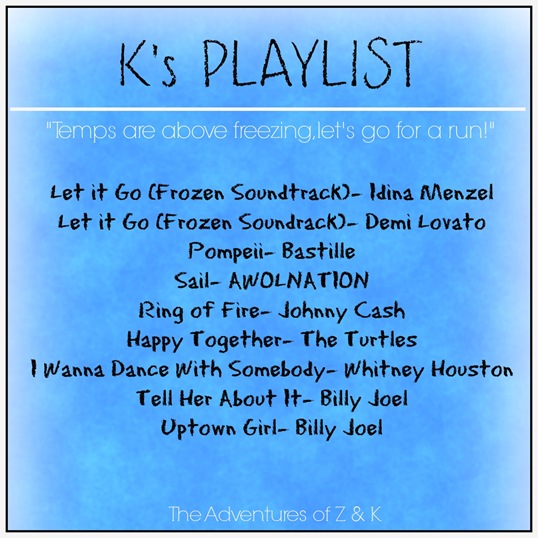 K's Temps are above freezing playlist