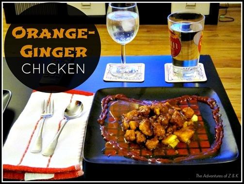 Orange Ginger Chicken from The Adventures of Z and K