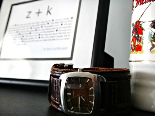 Broken watch on Z's dresser