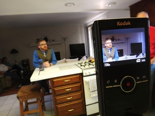 Amazing Race Casting Video- Colter being filmed in kitchen