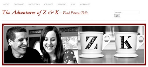 The Adventures of Z and K original header with anthropologie initial mugs