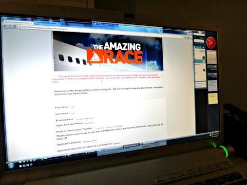 Amazing Race Online Application