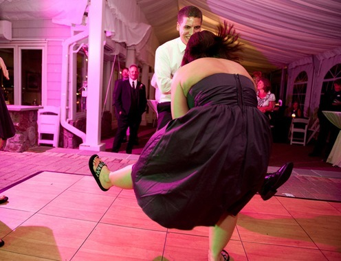 Z and Jenna dance at wedding