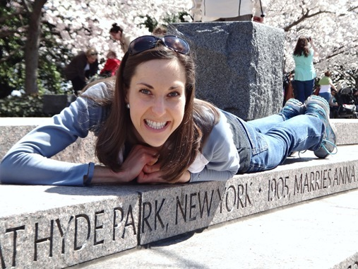 K and Hyde Park New York sign at FDR Monument