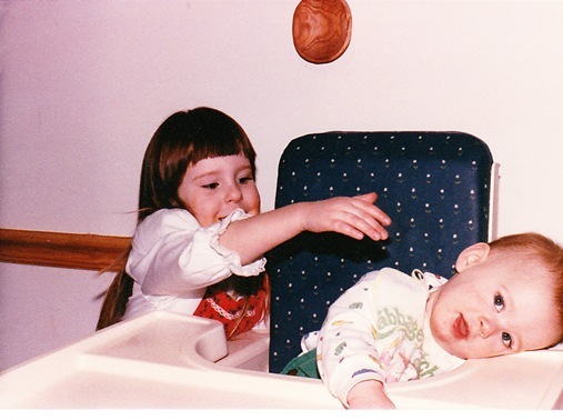 Kevin and me as kids 1988