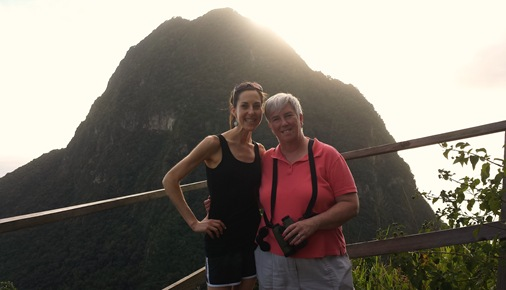 Mom and Me, Soufriere, St. Lucia with Piton