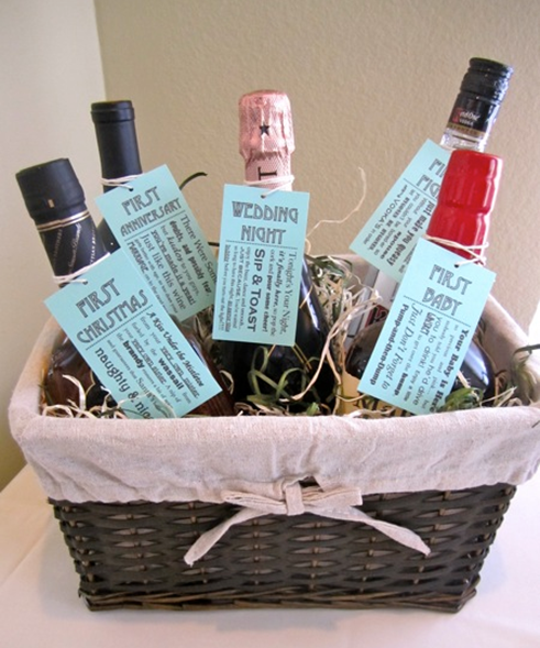 Milestone wine bridal shower gift