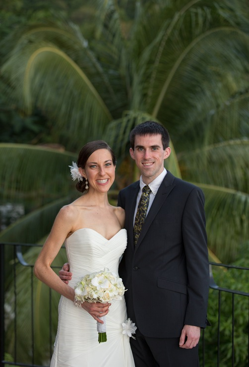Kevin and Me at Wedding in St. Lucia