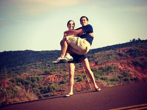 Kevin and Me in Kauai, Hawaii