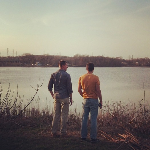 Z and Sam looking at Back River, Dundalk, MD