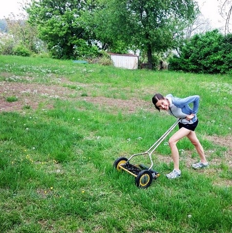 K with push mower