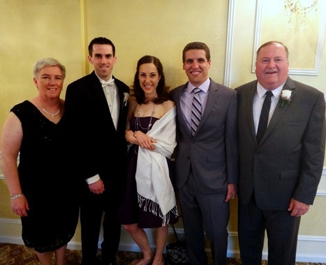 Our family at Kevin's wedding