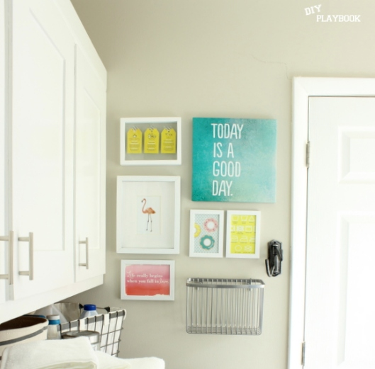 DIY Playbook Laundry Room Gallery Wall
