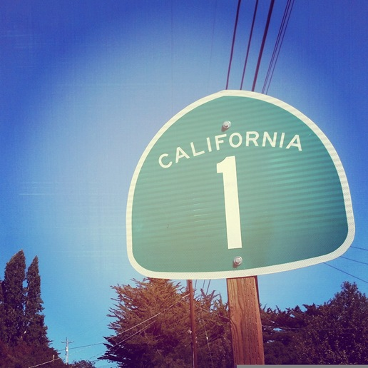 California Highway 1 Sign
