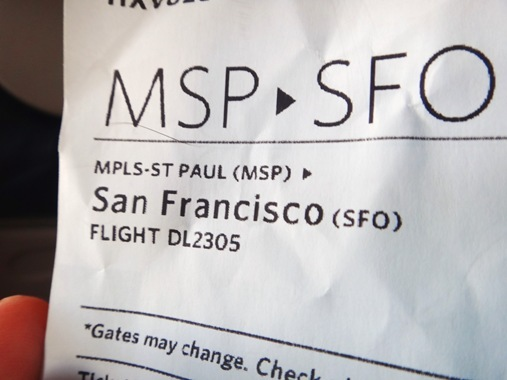 Boarding pass to San Francisco