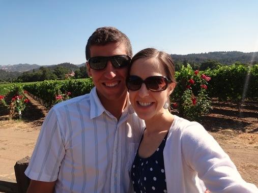 K and Z in Napa vineyard
