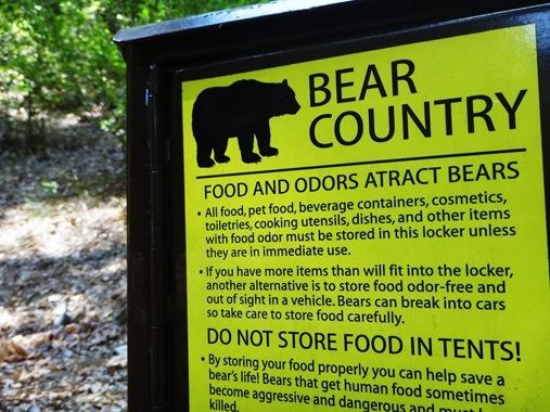Bear Country sign, Whiskeytown Lake, CA
