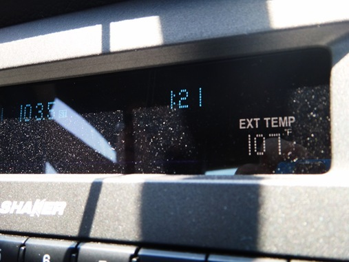 Driving to Redding, CA 107 degree temperature
