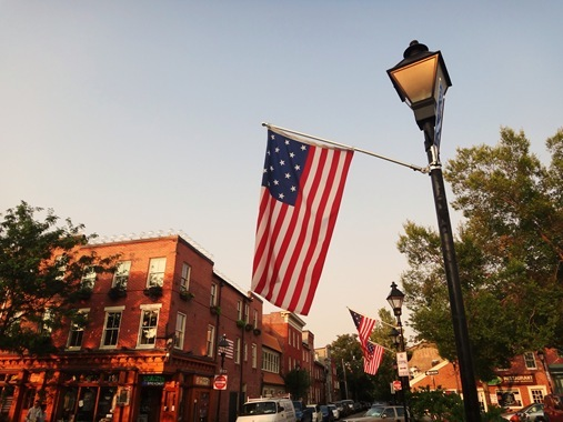 American Flag in Fells Point, Baltimore, MD