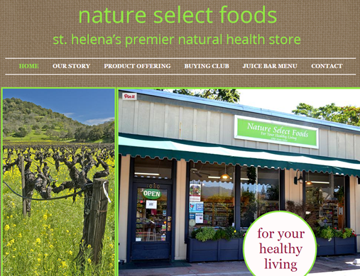 Nature Select Foods, St. Helena, CA